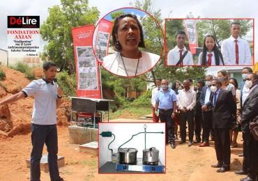FONDATION AXIAN - biodigesteur eny Lycée Andrianampoinimerina Sabotsy Namehana