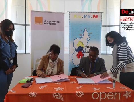 Orange Solidarité Madagascar sy ny Autisme Fédération Madagascar
